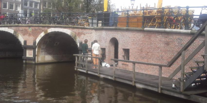 Studenten bezetten Amsterdams monument