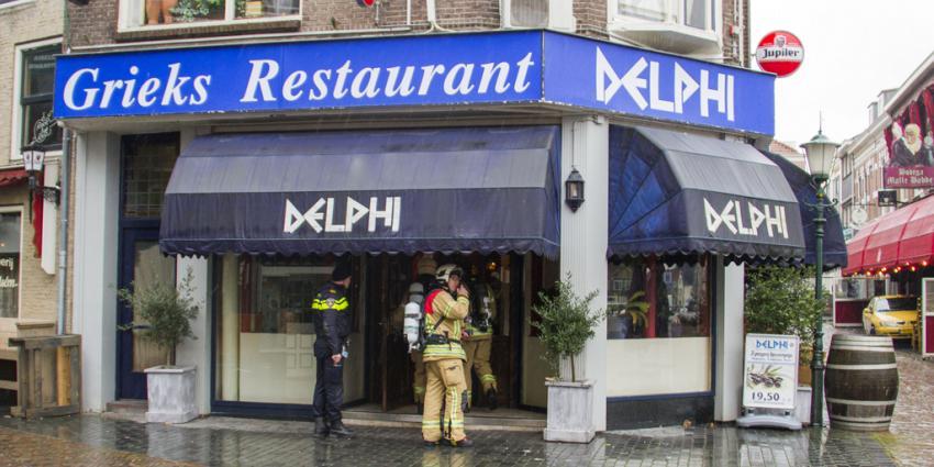Brand in restaurant blijkt rook uit afvoer te zijn