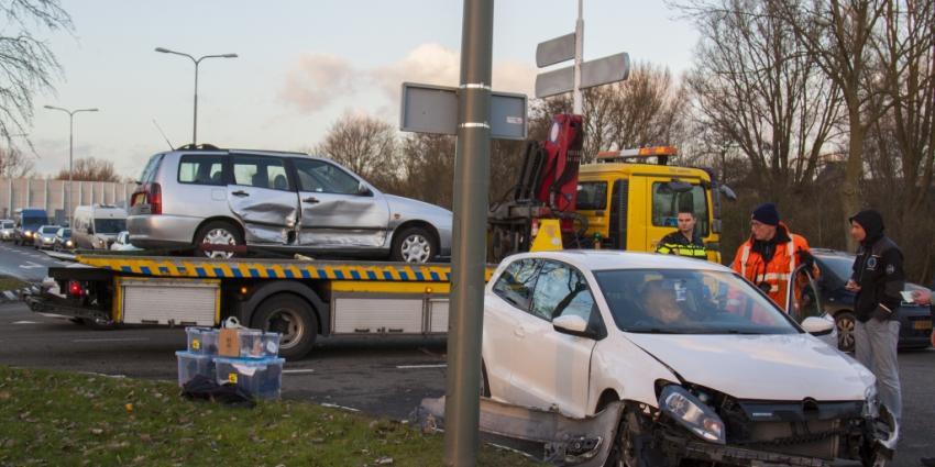 Veel schade door aanrijding in Schiedam