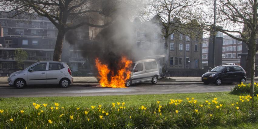 Motor slaat af, auto brandt uit