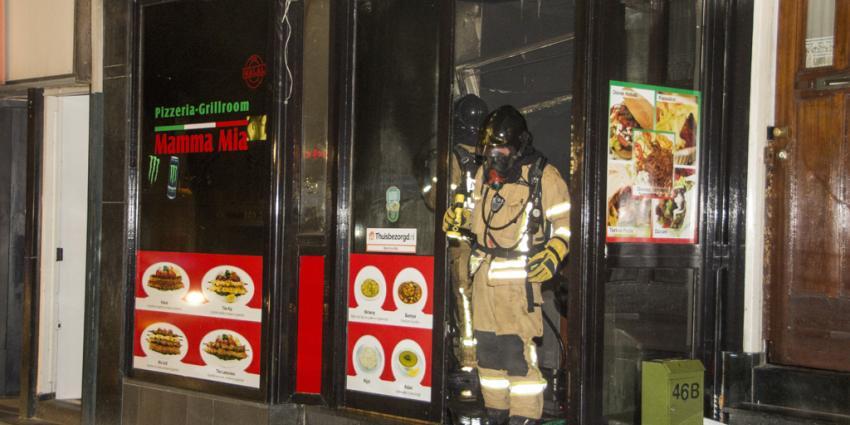 Forse brand verwoest pizzeria