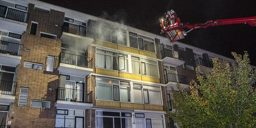 Gewonden bij flatbrand in Schiedam