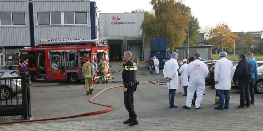 Brand bij vleesbedrijf in Capelle a/d Ijssel