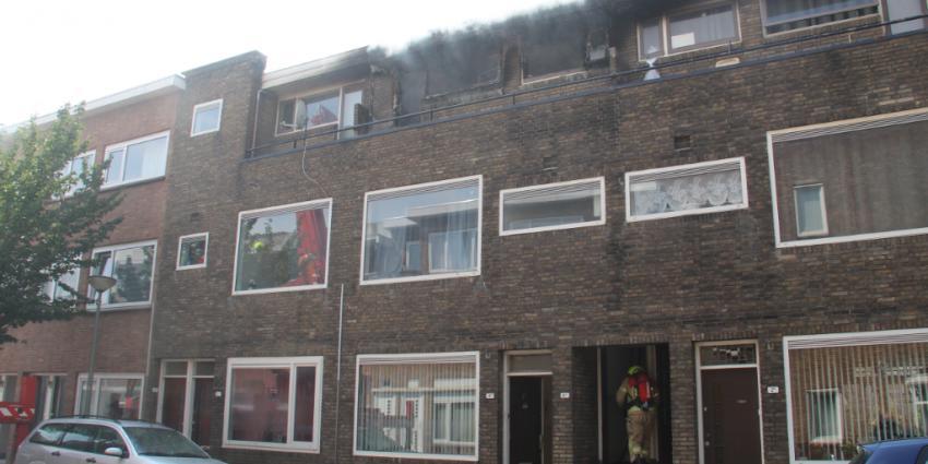 Foto van brand in Schiedam