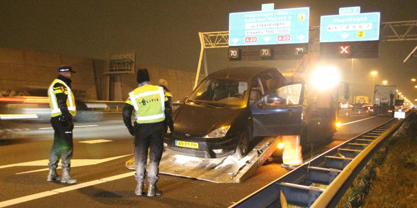 Eenzijdig ongeval op de A20