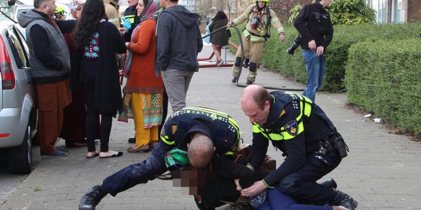 Vrouw aangehouden bij woningbrand in Schiedam