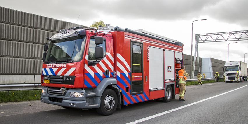 Klein brand in vrachtwagen A4
