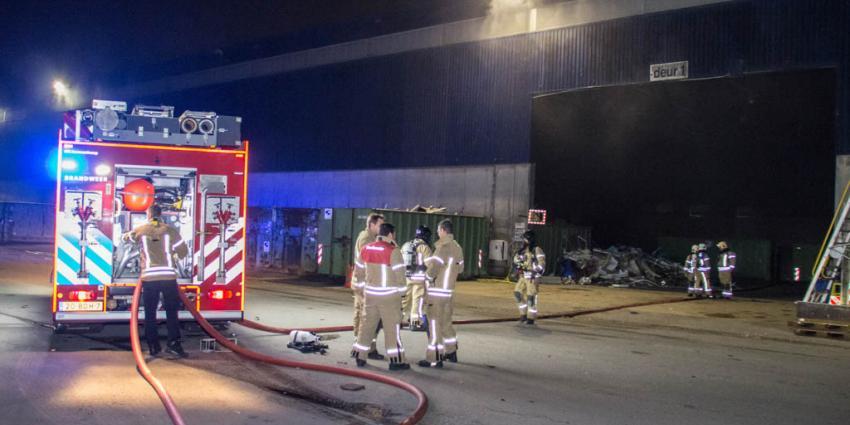 Brand in loods bij van Gansewinkel