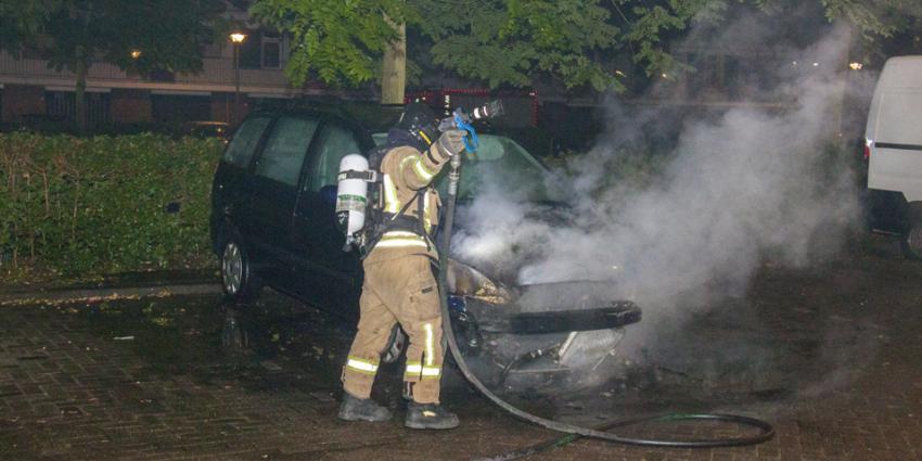 Mogelijke brandstichting auto in Schiedam