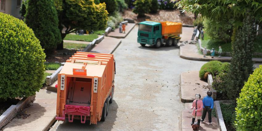 miniatuur vuilniswagen