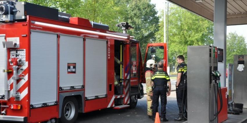 Gaslucht in shop van tankstation Vlaardingen