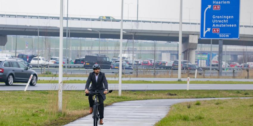 Fietsconcept voorkomt fileleed rond Schiphol