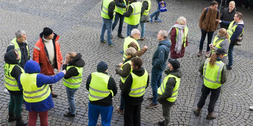 Morgen protest van Gele Hesjes in Nederland België en Frankrijk