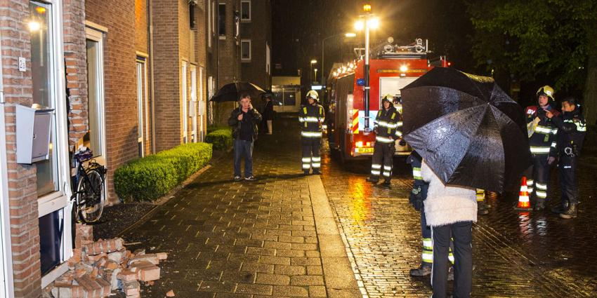 Auto ramt gevel in Boxtel
