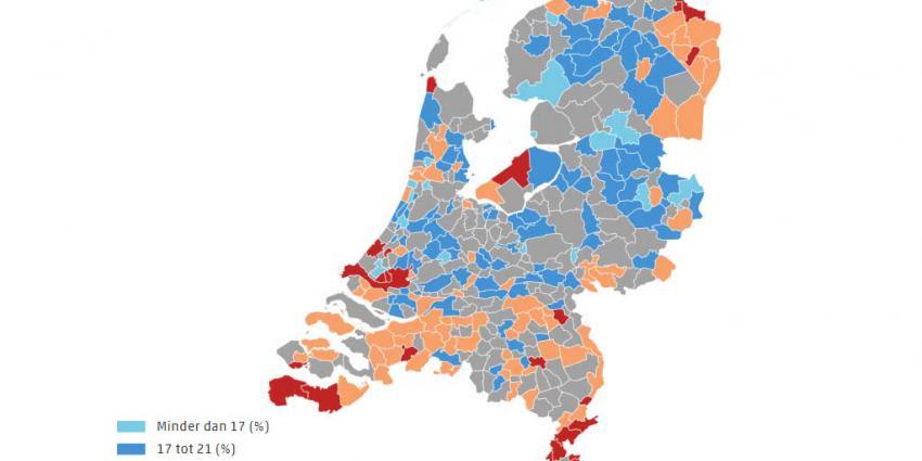 In uiterste punten van Nederland gezondheid inwoners minder