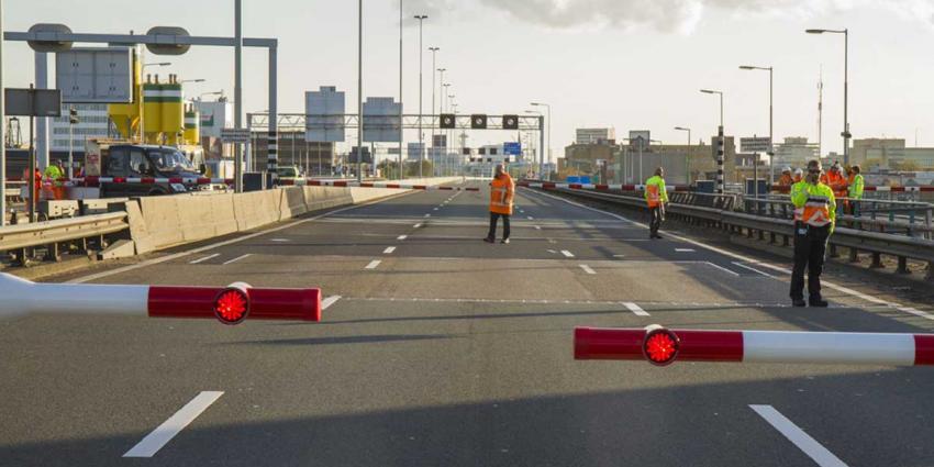 Verkeerschaos Rotterdam om kapotte Giessenbrug A20