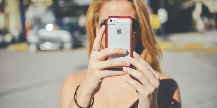 vrouw, telefoon, foto, gsm