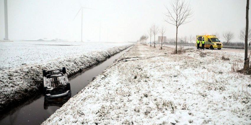 Veel ongevallen door gladde wegen