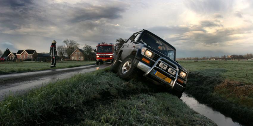Veel ongelukken bij gladheid en mist tijdens ochtendspits Gelderland/Overijssel