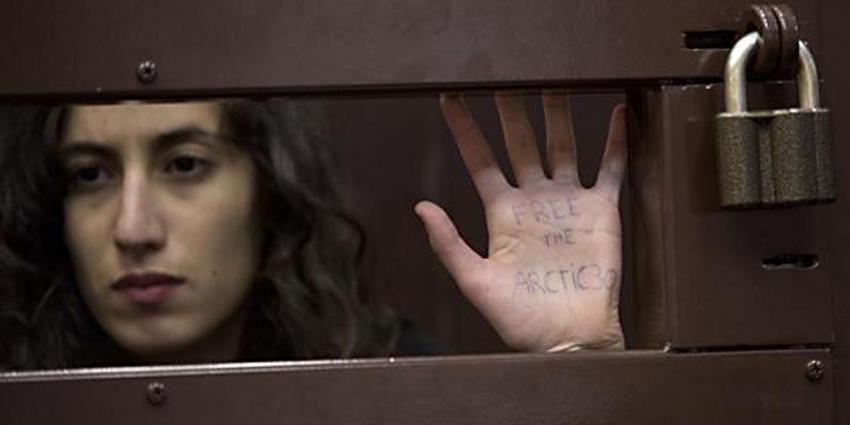 Foto van Greenpeace-gevangene Faiza Oulahsen | Greenpeace Dmitiri Sharomov