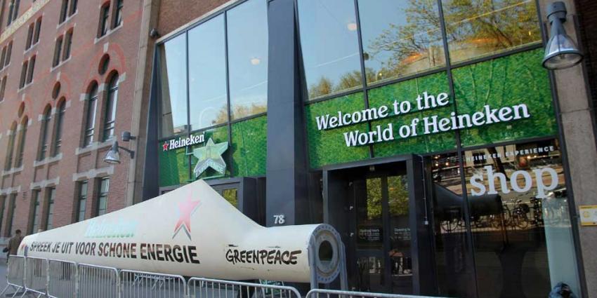 Foto van molenwiek bij Heineken actie Greenpeace | BON