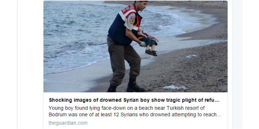 Wereld schokt door foto van aangespoeld jongetje in Turkije