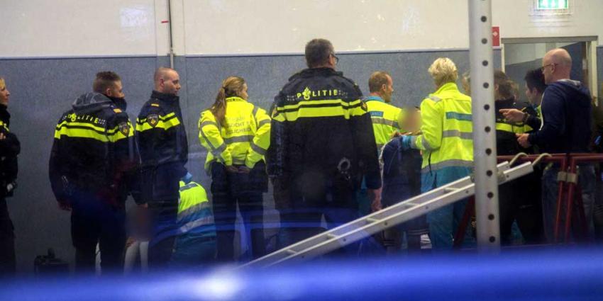 Wandklimrek gymzaal met kinderen omgevallen