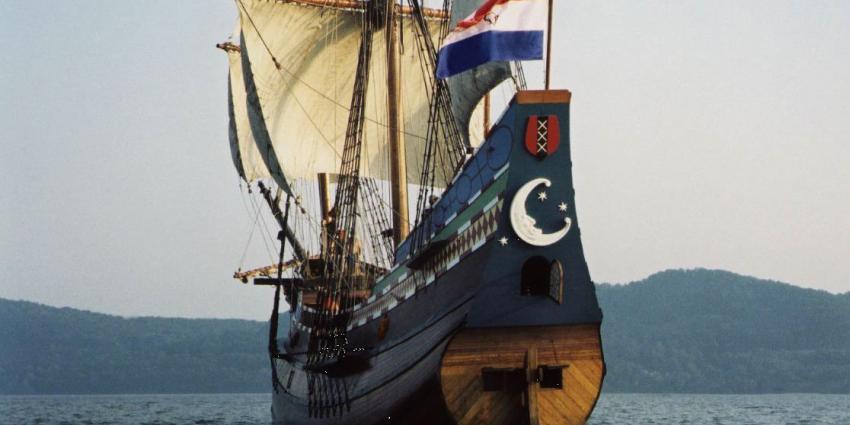 VOC-museumschip de Halve Maen op 23 mei naar Nederland