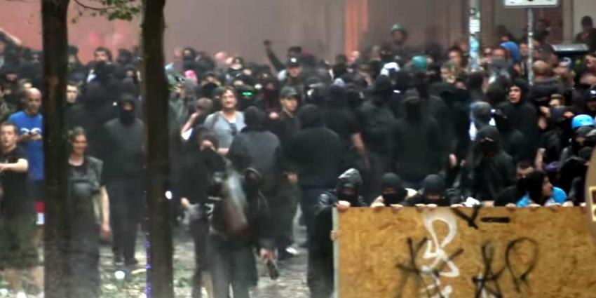 Vele gewonden bij rellen in Hamburg tijdens G20-top