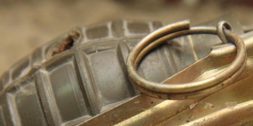 Handgranaat gevonden in voortuin