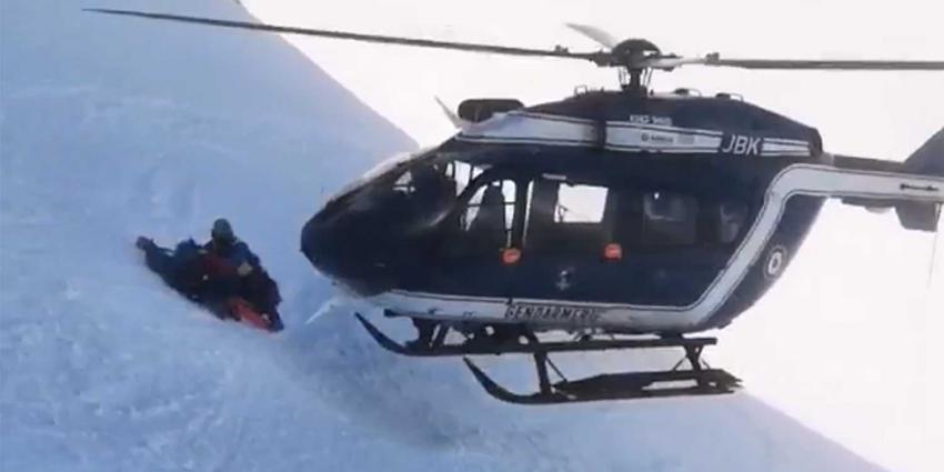 Spectaculaire beelden reddingshelikopter Franse Alpen