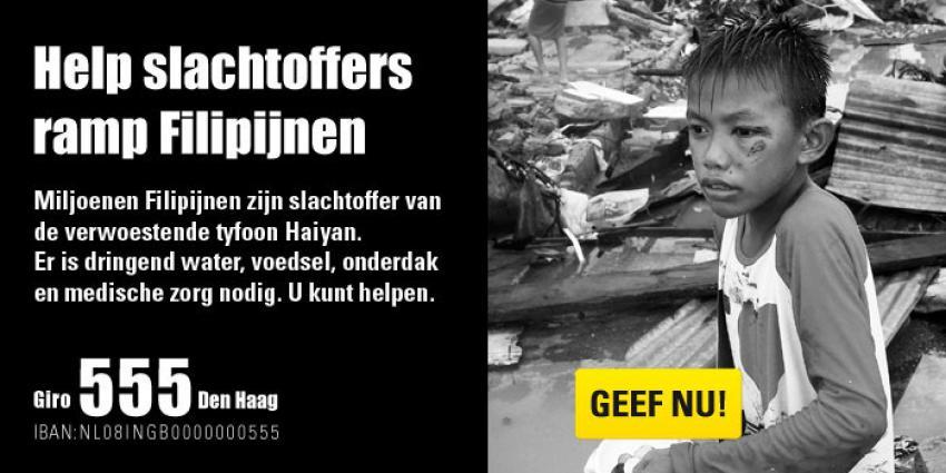 foto van inzamelingsactie ramp Filipijnen