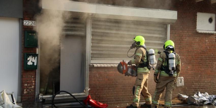 Veel rook bij brand in hennepkwekerij