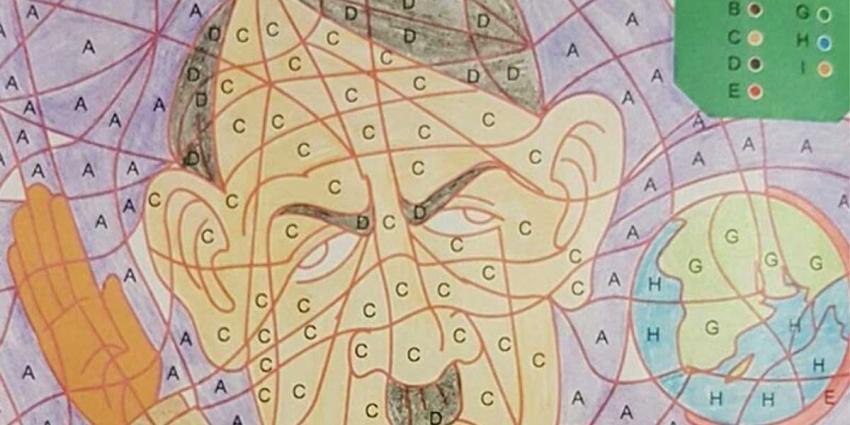 Kinderkleurplaat van Hitler door Kruidvat uit schappen gehaald