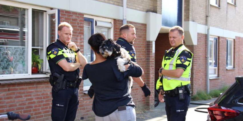 Hond gered bij woningbrand in Vlaardingen