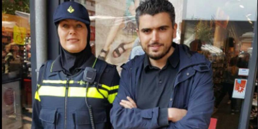 Rotterdamse politievrouw Sarah Izat mag hoofddoek dragen tijdens haar werk