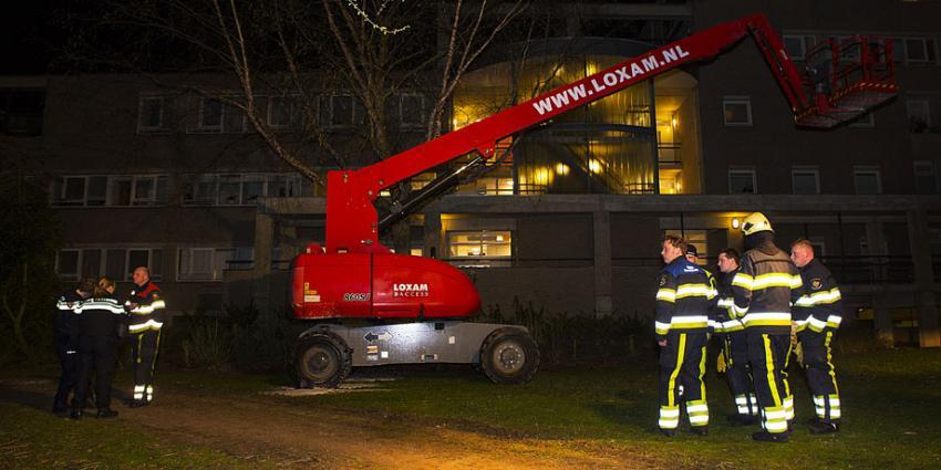 Brand in hoogwerker Vught