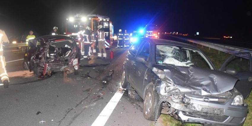 Ongeval met drie voertuigen op A28 bij Hoogeveen