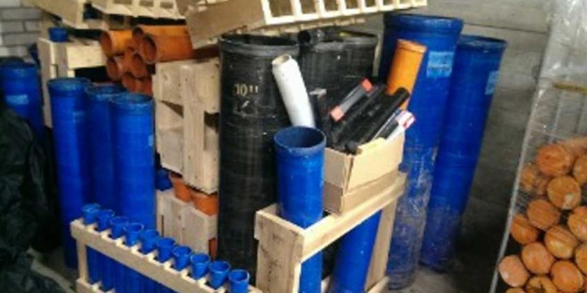 Bijna 6.000 kilo illegaal vuurwerk in bunker aangetroffen