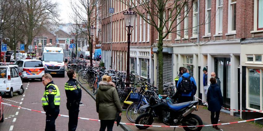 Pand beschoten op de Agatha Dekenstraat in Amsterdam,