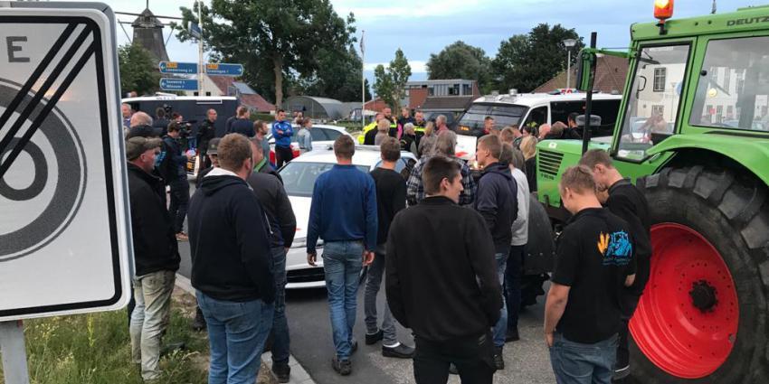Politie bij demonstratie boeren in Groningen