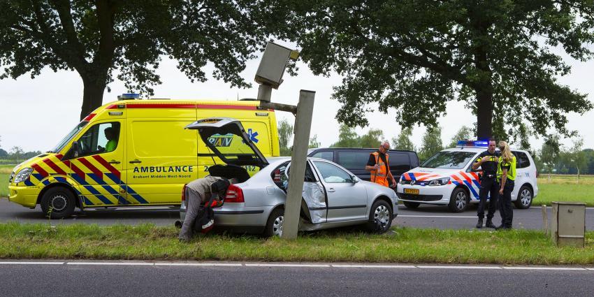 Grote ravage na ongeval op N65 bij Haaren