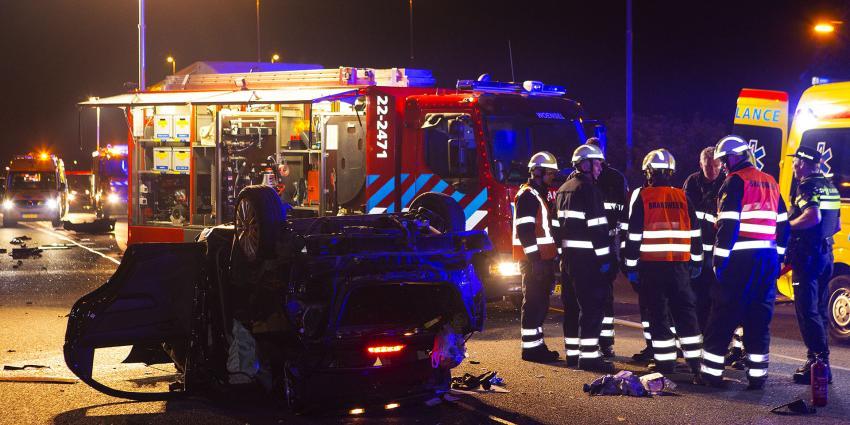 Vier gewonden bij aanrijding op A58