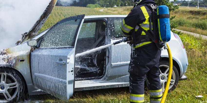 Autobrand op Noordelijke Randweg in Sint-Oedenrode