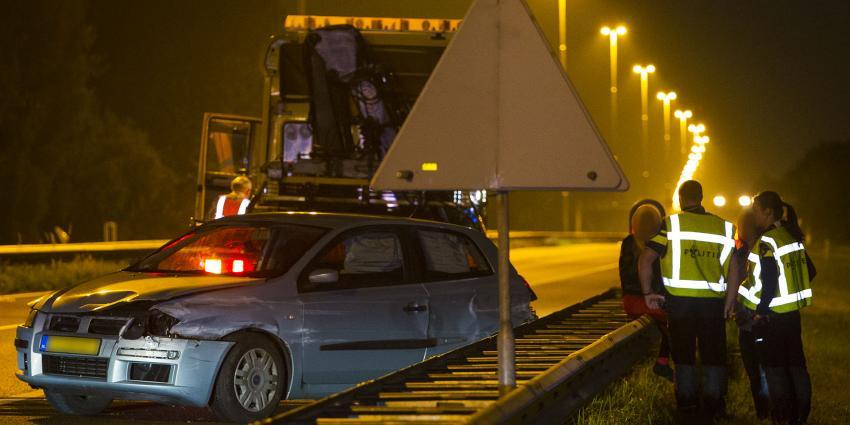 Vrouwen ongedeerd na ongeval op snelweg A58 bij Oirschot