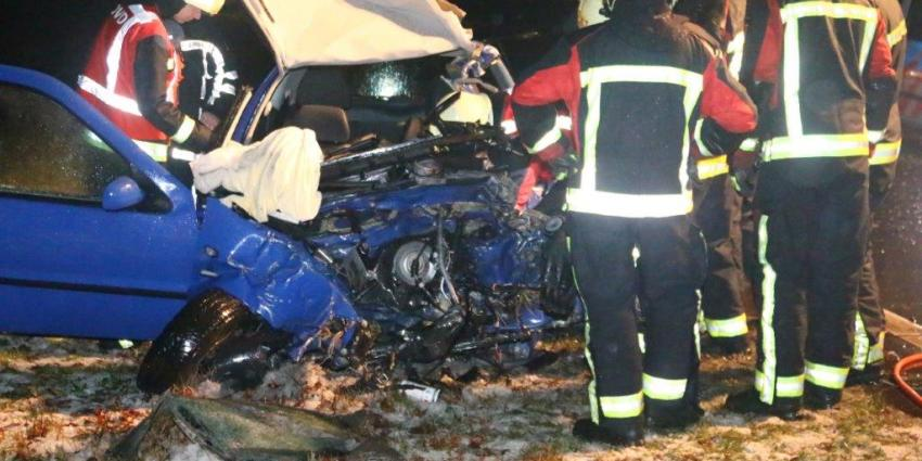 Dode bij ernstig ongeval op N34 bij Zuidlaren
