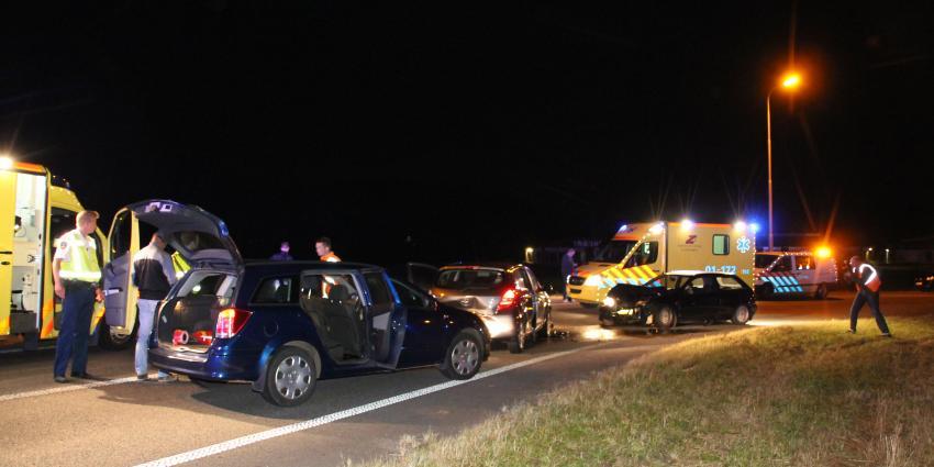Drie gewonden bij aanrijding op N33 bij Appingedam