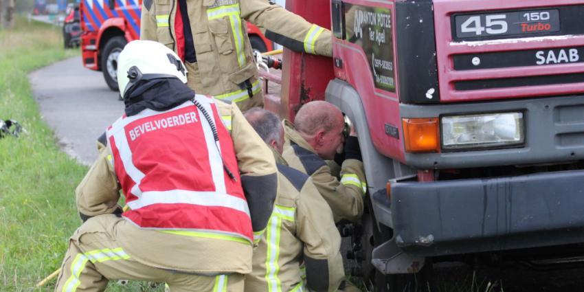 Brandweer onderzoekt vrachtwagen