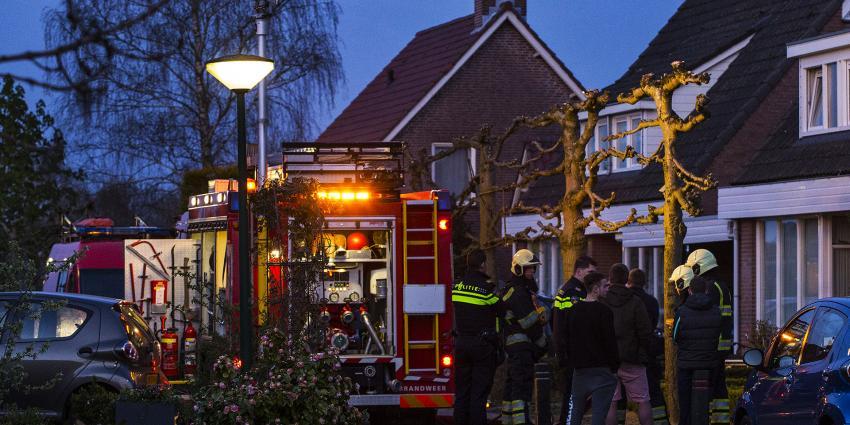 Veel rookontwikkeling bij woningbrand in Esch