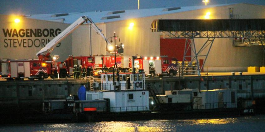 Kortsluiting op baggerschip in haven Delfzijl